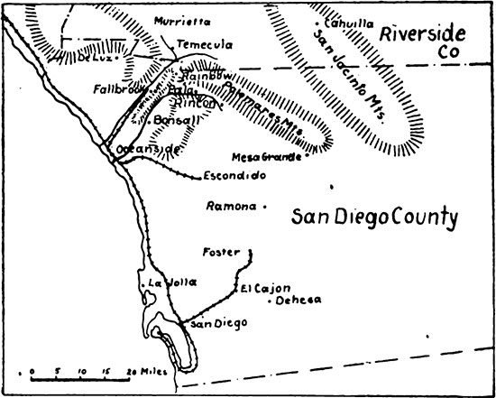 Map of San Diego County image