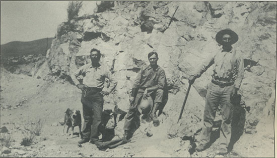 Miners at Pala Chief Mine photo image